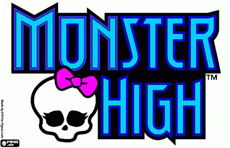 monster high logo coloring pages free coloring pages