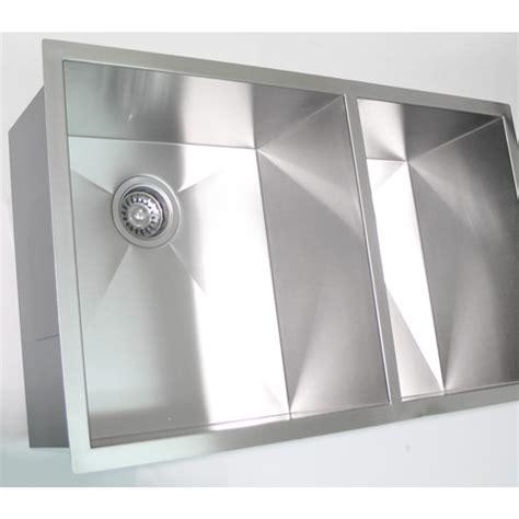 60 40 stainless steel undermount sink 32 inch stainless steel undermount 60 40 bowl