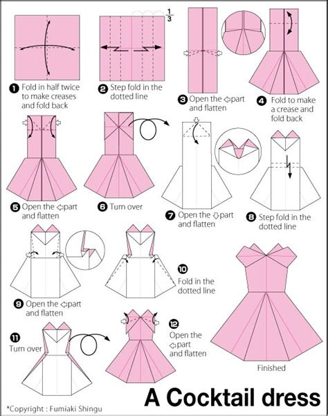 Dollar Origami Step By Step - origami evening dress origami how to make a