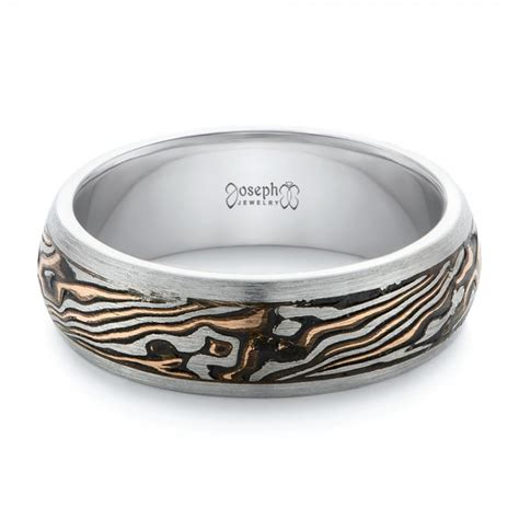 mens custom wedding rings custom palladium and mokume s wedding band 102360