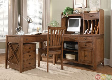 Hearthstone Rustic Oak Finish L Shaped Home Office Desk Rustic Home Office Desks