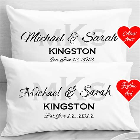 Personalized Picture Pillow Cases personalized wedding pillow cases anniversary by eugenie2 on etsy