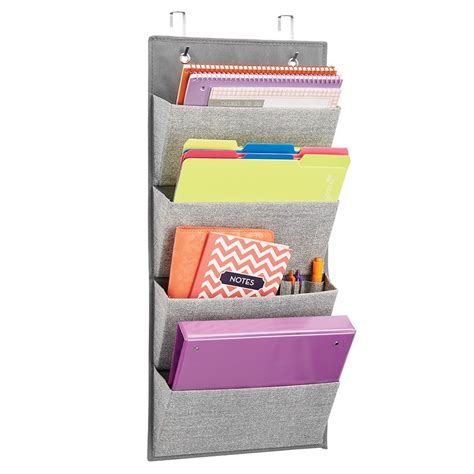above desk wall organizer interdesign wall mount over the door fabric office