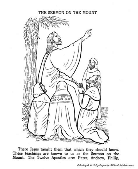 coloring pages jesus teaching jesus teaches coloring pages the sermon on the mount