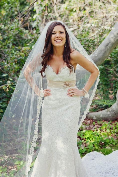 Wedding Hairstyles With Lace Veil by Lace Wedding Veils With Hair Www Pixshark