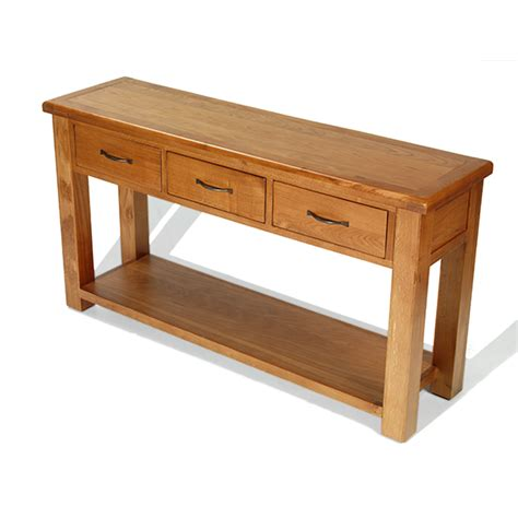 large console table dalby oak large console table