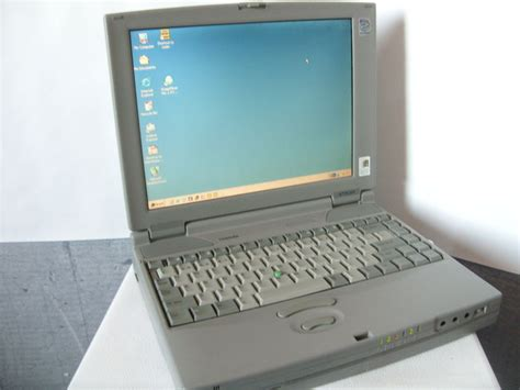 vintage toshiba satellite pro 470cdt laptop with charger pentium mmx 32mb 2gbhd windows
