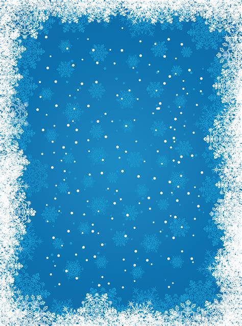Blue Snowflake Background Free Vector Snowflakes Background Free
