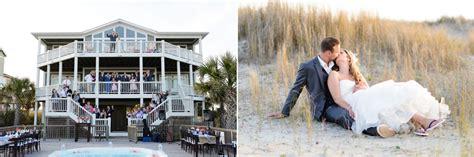 beautiful beach house wedding  holden beach nc
