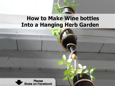 How To Make A Wine Bottle Into A L how to make wine bottles into a hanging herb garden