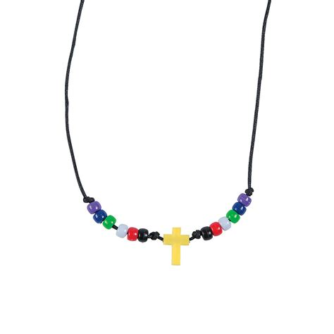 necklace craft faith beaded cross necklace craft kit trading