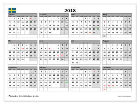 Kalender 2018 Helgdagar Sverige Kalendrar F 246 R Att Skriva Ut 2018 Sverige