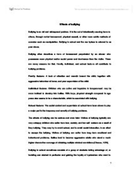foreign literature thesis about bullying how to write an essay fact monster academic writing
