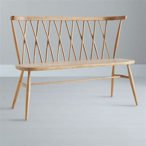 wooden bench online buy ercol for john lewis chiltern 3 seater dining bench