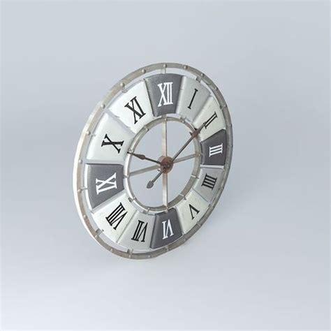 printable clock model print clock houses the world 3d model max obj 3ds fbx stl dae
