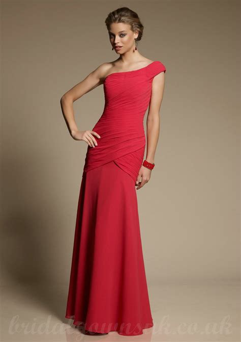 red bridesmaid dresses will add a splash of color to your
