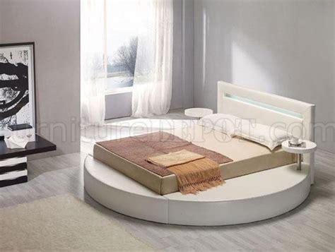 round platform beds round leatherette platform bed palazzo white