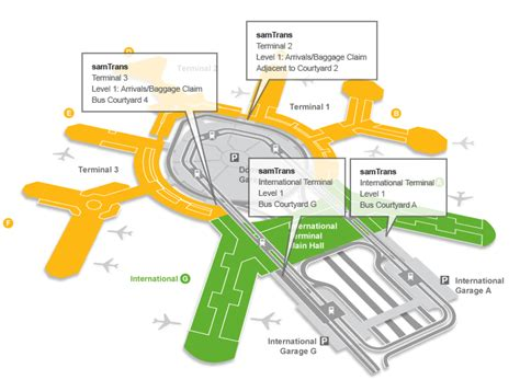 san jose airport terminal map united airlines transit san francisco international airport