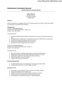Maintenance Mechanic Resume Sles by Maintenance Mechanic Resume Sles 28 Images Aircraft Mechanic Resume Sales Mechanic Lewesmr