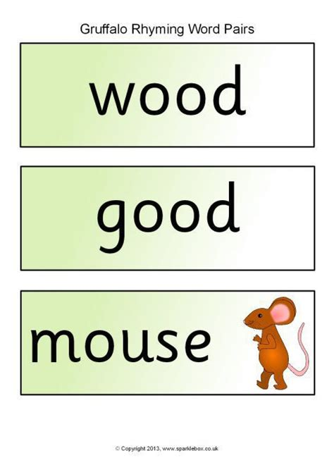 printable children s resources gruffalo rhyming word pair cards sb10111 sparklebox