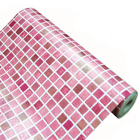 fliesen folie selbstklebend tapete selbstklebend mosaik fliesen rot 100 x 100 cm