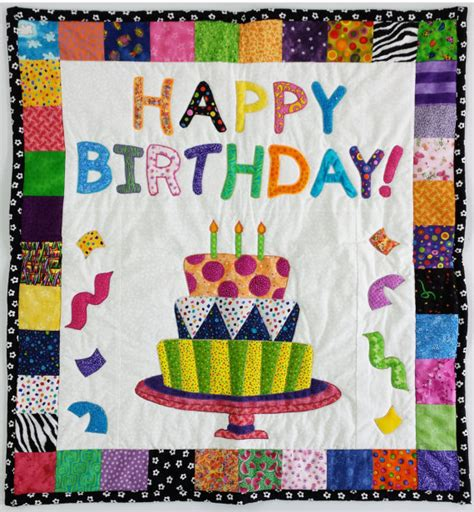 Birthday Quilt Pattern by Quilted Happy Birthday Wall Hanging Or Baby Blanket 30 X