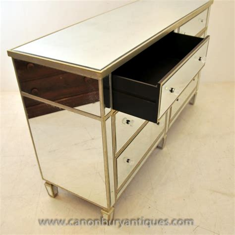 mirrored desk with drawers art deco mirrored double chest drawers commode furniture