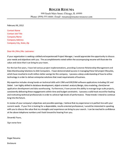 cover letter for management position exles of cover letters for management 12315