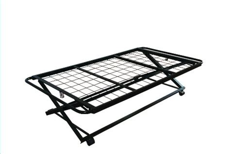 Pop Up Bed Frame 39 Size Steel Hirise Bed Frame Pop Up Trundle Discount Best Daily Deals