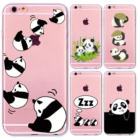 Panda Hardshell For Iphone 6 aliexpress buy new china panda phone cases for iphone 6 6s cover soft tpu clever