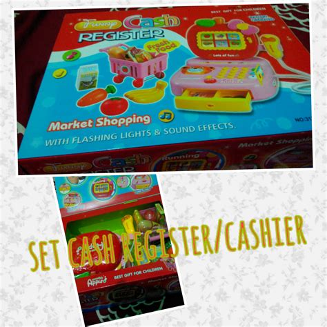 Mainan Mesin Kasir Drawer Cashier set register cashier family shop