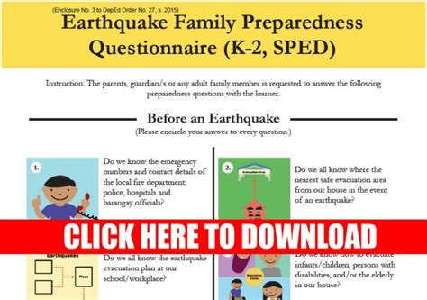 earthquake questionnaire deped earthquake readiness questionnaire the filipino
