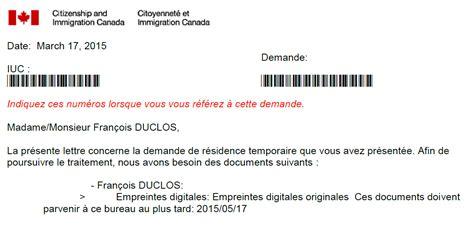 Lettre De Support Financier Pour Visa canada empreintes digitales pour un jp 2015