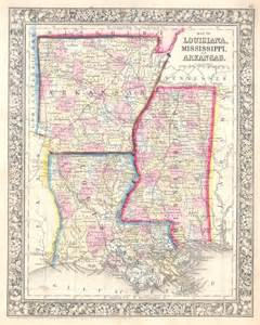 map of louisiana mississippi and arkansas geographicus