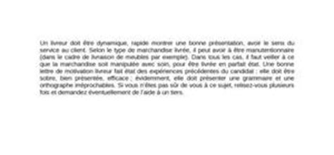 Exemple De Lettre De Motivation Livreur Pizza Lettre De Motivation Livreur De Pizza Digischool Documents