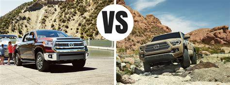 Toyota Tacoma Vs Tundra Difference Between The 2017 Toyota Tundra And Tacoma