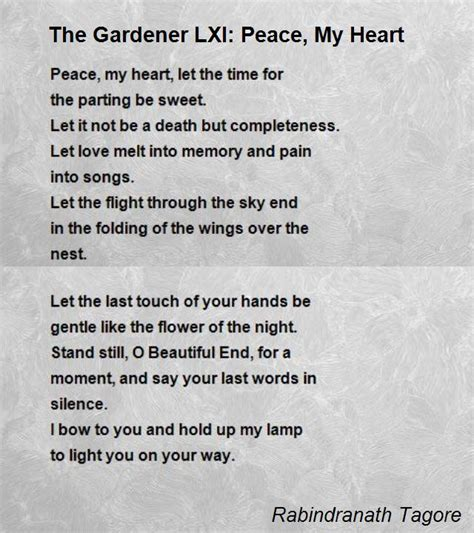 rhymes for the end times the book of revelation in rhyme books the gardener lxi peace my poem by rabindranath