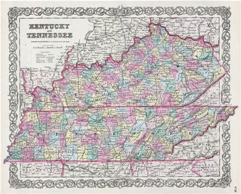 map of kentucky and tennessee kentucky and tennessee geographicus antique maps
