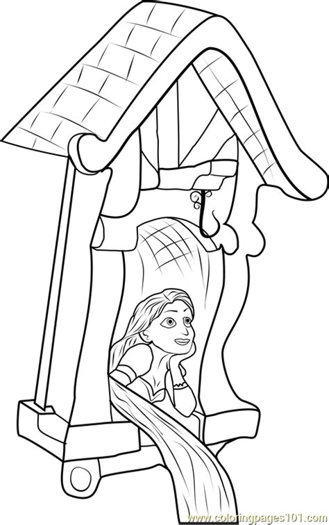 coloring page rapunzel tower rapunzel in castle coloring page free tangled coloring