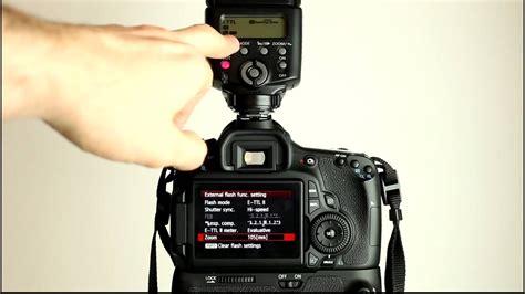 tutorial flash canon canon eos 60d tutorial video 3 part 2 flash menu