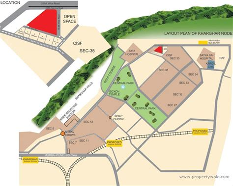layout plan of karanjade navi mumbai nisarg hyde park kharghar navi mumbai residential