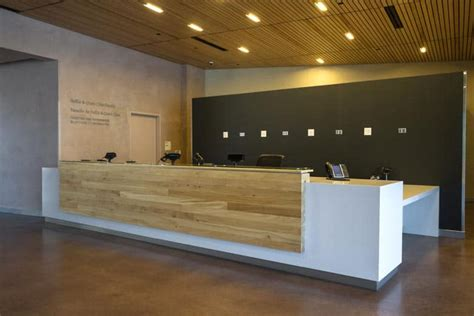 Timber Reception Desk Wood Anchor Entrance Reception Desk Canadian Museum For Human Rights