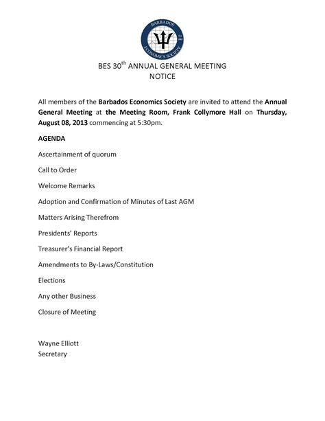 agenda for agm template agm agenda images frompo 1