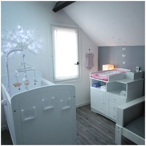 chambre bébé gris decoration chambre bebe nuage