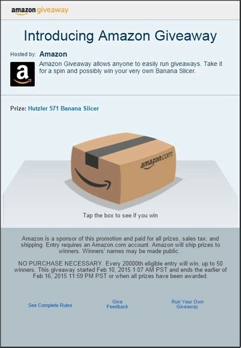 Giveaways Hosted By Amazon - amazon s new promotional tool lets anyone host online giveaways techspot