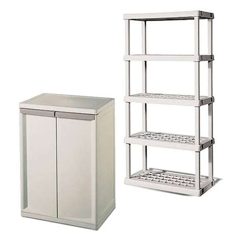 sterilite 01408501 heavy duty adjustable 2 shelf base