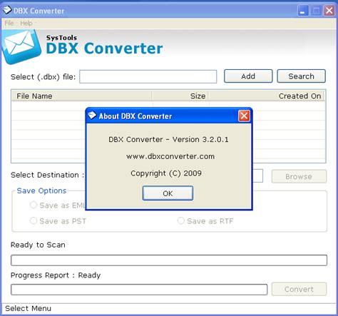 Dbx Tool dbx to pst converter 7 4 chienae