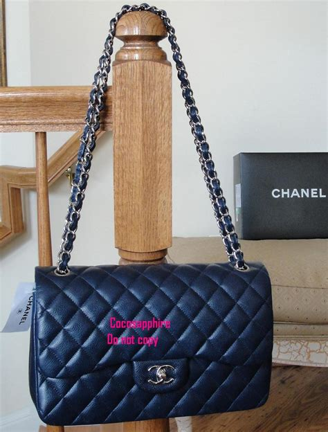 Chanel O Navy Blue Caviar Shw Series 21 Fullset Large Size post photos of your jumbo classic flap here page 3 purseforum