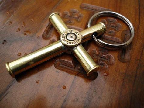 Bullet Cross Pendant Necklace bullet casing cross pendant necklace medium by