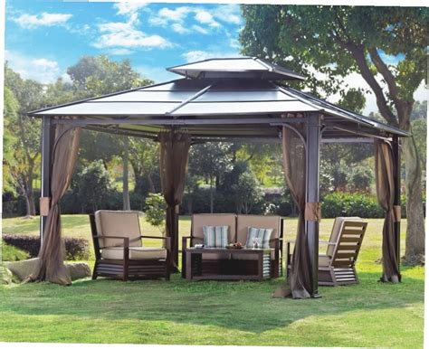 12x12 patio gazebo 12x12 patio gazebo canopies shades stc gz734 seville